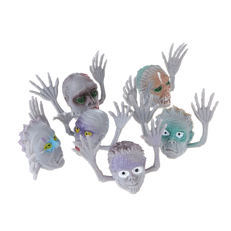 Toys & Hobbies 6pcs/set Scary Ghost Style Finger Puppet Children Story Time Halloween Decor Toy Fine Craftsmanship Gags & Practical Jokes