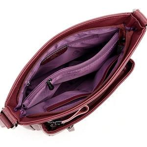 Image 3 - Moda feminina de alta qualidade couro crossbody sacos 2018 designer feminino luxo bolsa ombro lazer tote para a senhora bolsa de ombro