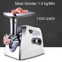 Stainless Steel Electric Meat Grinder 110V 22V Cutting Machine Meat Mincer Multifunction Automatic Sausage Stuffer 3 Colors