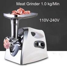 Нержавеющаясталь электрическая мясорубка 110 V-22 V Резки мясорубки многофункциональный автоматический колбасный писака 3 цвета