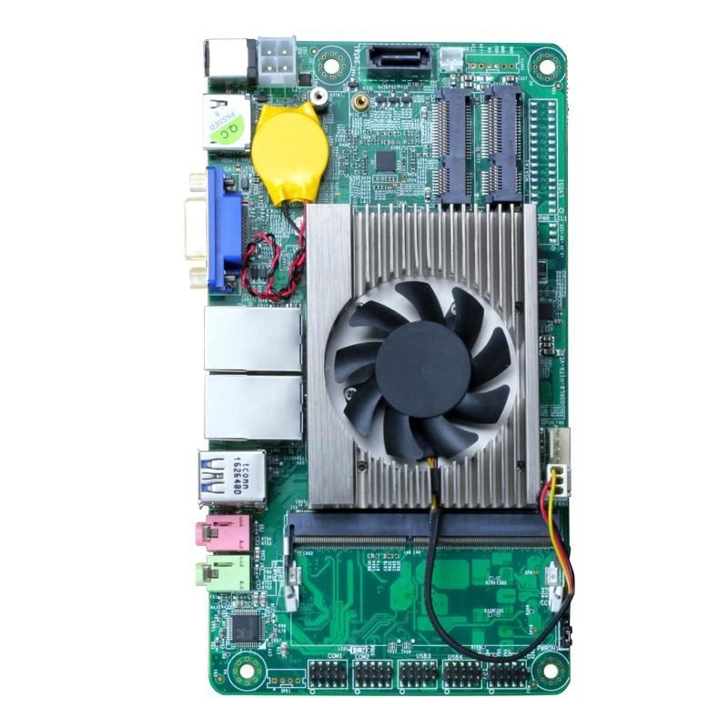 Desktop Motherboard ITX Intel Core I7 7500U 2.70ghz Onboard CPU ITX Mini DDR3 Msata SATA Mini PCI E Mainboard Origial