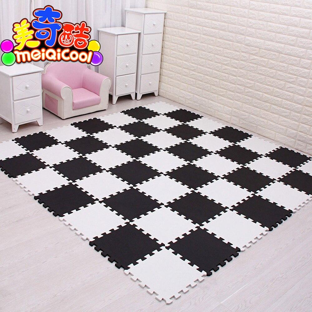 9/18/24/30 pcs/lot doux EVA mousse bébé enfants tapis de jeu noir blanc couleur Puzzle tapis plancher tapis 30x30x1 cm