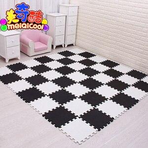 9/18/24/30pcs/lot Soft EVA Foam Baby Children Kids Play Mat Black White Color Puzzle Mats Floor Jigsaw Mats 30 x 30 x 1cm(China)