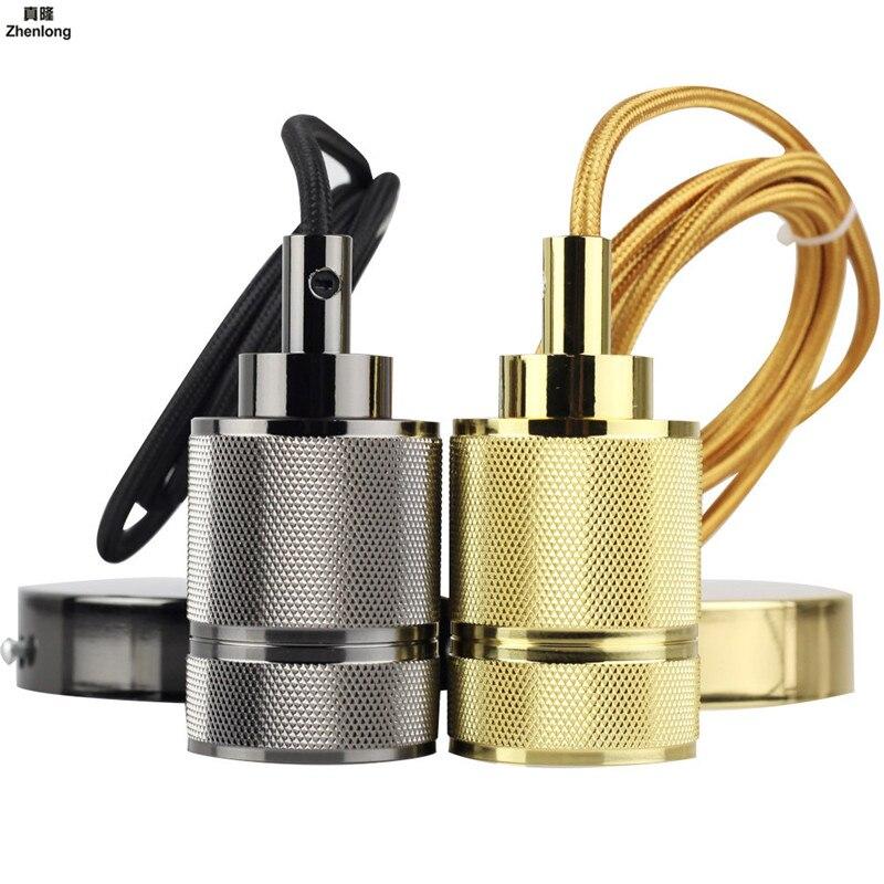 Base de lampe E27 Vintage rétro Edison support de Base de lampe pendentif lumière douille à vis 110 V/220 V industriel vent lampe raccords en métal
