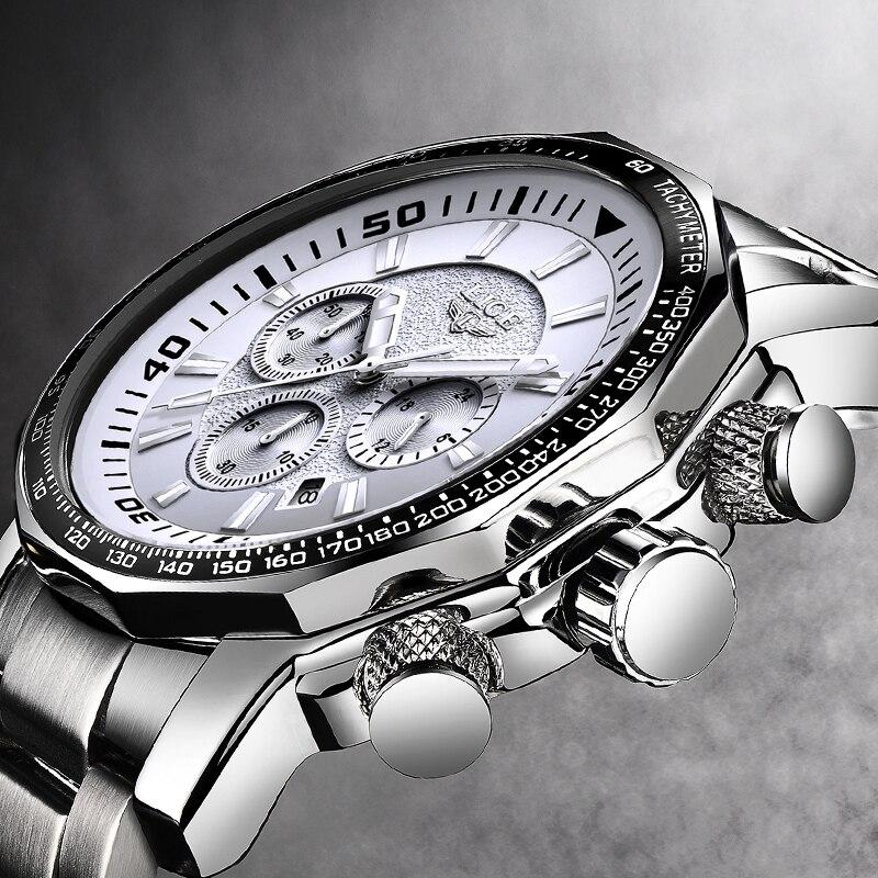 Élégant Hommes Montre De Luxe Marque LIGE Prince De la Mode Montre-Bracelet de Charme En Acier Inoxydable Casual Cool Mâle 30 mètre Étanche