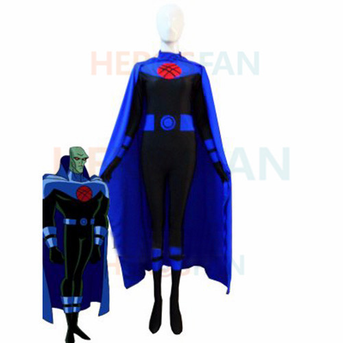 Justice Lords Martian Manhunter Superhero Costume spandex Female halloween cosplay costumes zentai suit free shipping