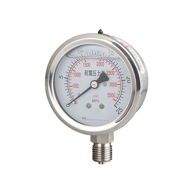 1/4in. Male End Pressure Gauge-SS304 Stainless Steel Vacuum/Non-vacuum 1 1 2 dn40 male threaded stainless steel ss 304 pipe fittings 150mm length npt