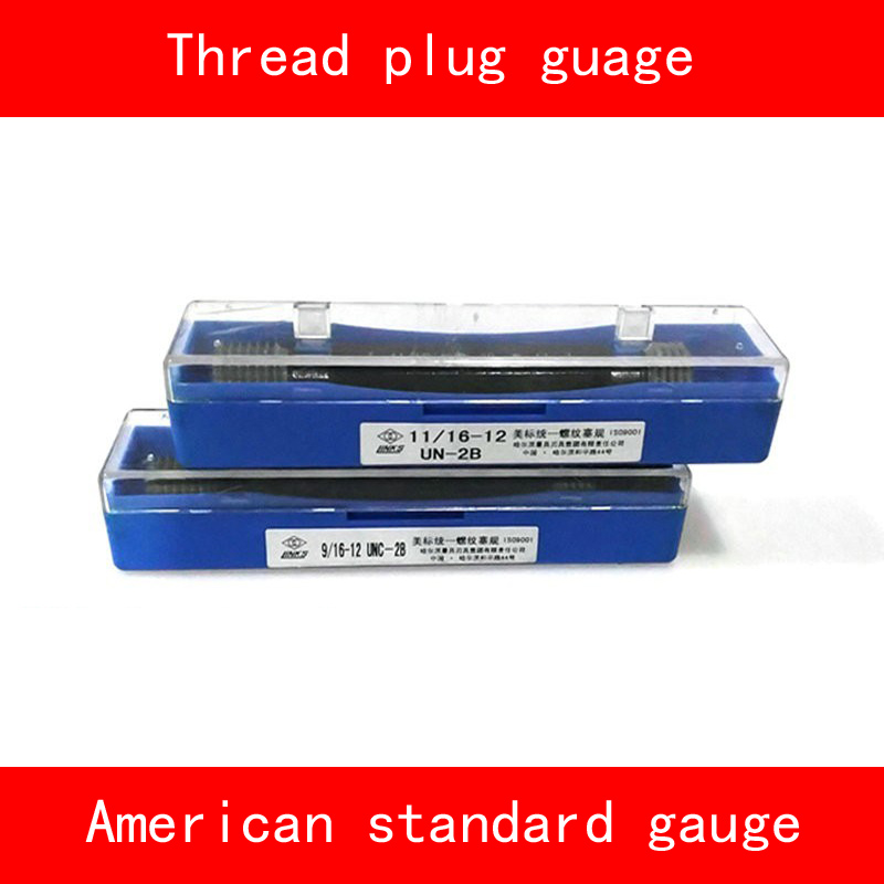 Thread Plug Gauge GO/NO GO Gage American Standard Gauge Inch UN UNC UNF 2B Internal Screw Gage Fine Pitch Thread Test Tool HMCT
