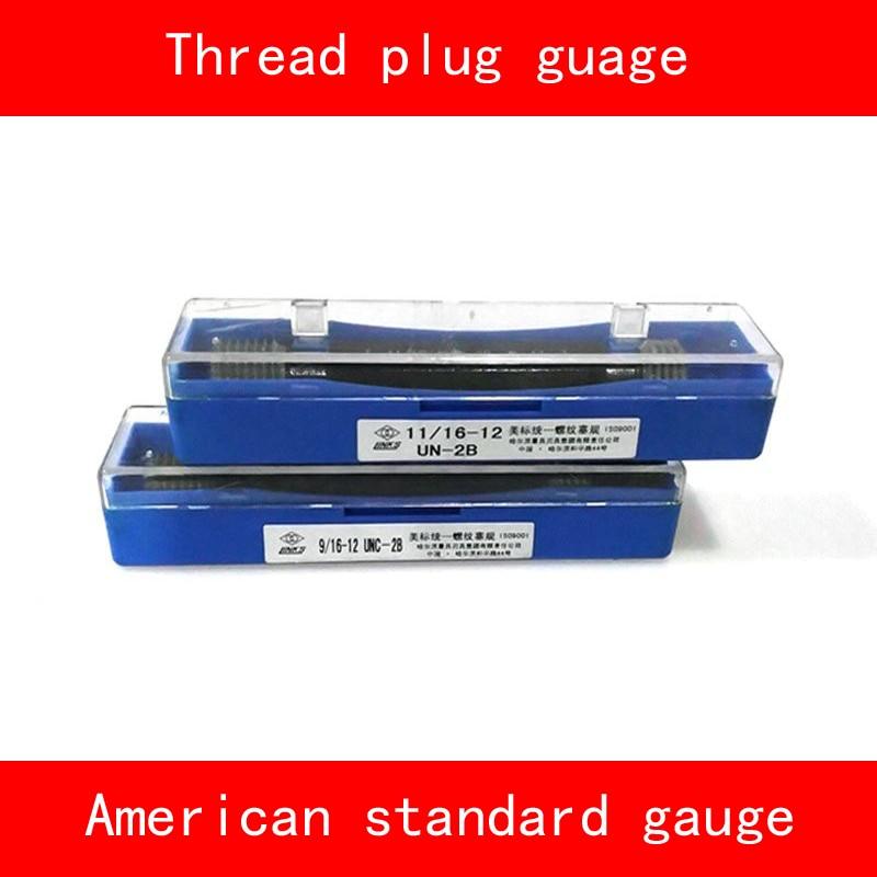 Thread Plug Gauge GO/NO GO Gage American Standard Gauge Inch UN UNC UNF 2B Internal Screw Gage Fine Pitch Thread Test Tool HMCT m21 x 1 right hand thread gauge plug gage