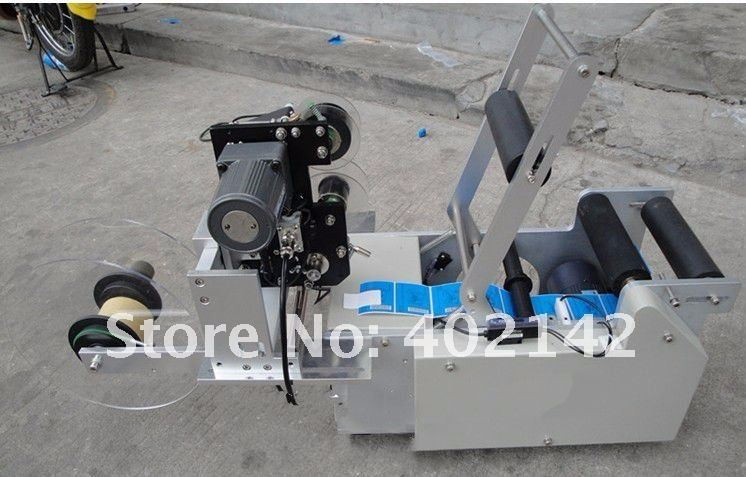 Free-shipping-by-DHLFEDEX-100-New-Round-Bottle-Labeling-Machine-with-date-printing-machine-ribbon-coder