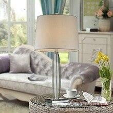 Настольная лампа в современном стиле K9 с кристаллами, тканевый абажур, настольная лампа для фойе, зала, настольная лампа для гостиной, E27
