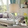 Бесплатная доставка  современный стиль  K9  Хрустальная настольная лампа  тканевый абажур  настольная лампа для лобби зала  настольная лампа ...