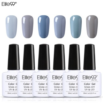 Elite99 Nagel Gel Tränken Weg UV Gel Grau Farben Gel Lak Vernis Semi Permanent Lack Nail art Gel Lacke gelpolish