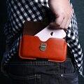 Estojo de couro universal para iphone 7 6 6 s plus 5S se tampa capa para samsung galaxy s7 s6 edge s5 de metal fivela saco da cintura bolsa