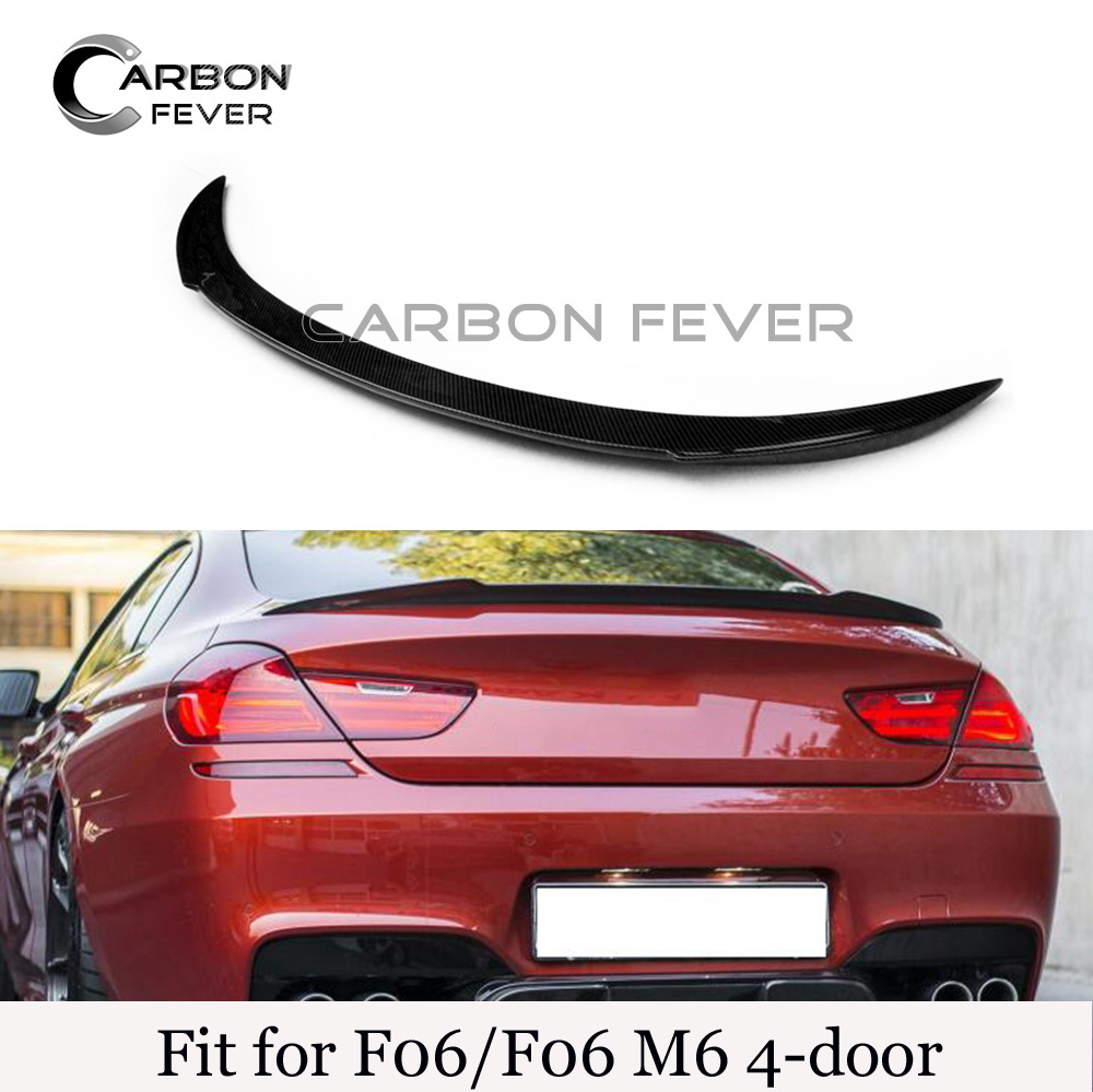 Auto Racing Car Rear Wing For BMW 6 Series F06 M6 4 Door Sedan Carbon Fiber