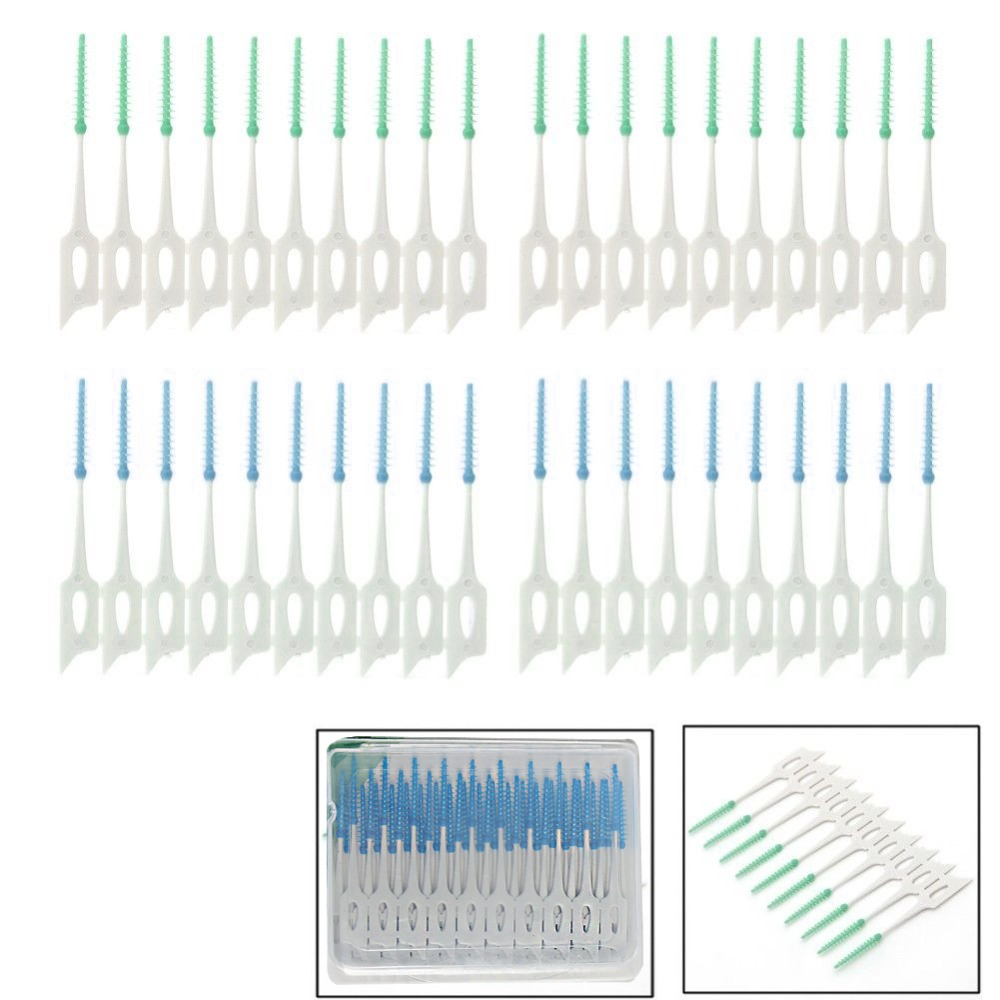 New 1Pack/40Pcs Soft Clean Between Interdental Floss Brushes Dental Oral Care Tool Drop Shipping