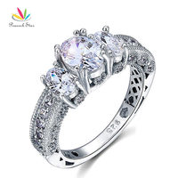 Wholesale Drop Shipping Vintage Style 2 Ct CZ Created Diamond Solid 925 Sterling Silver Wedding Engagement