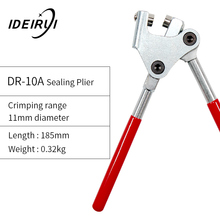 1pcs Red Plastic Coated Handle Lead Seal Sealing Pliers Calipers for Seal Water Meter Anti-theft sealing