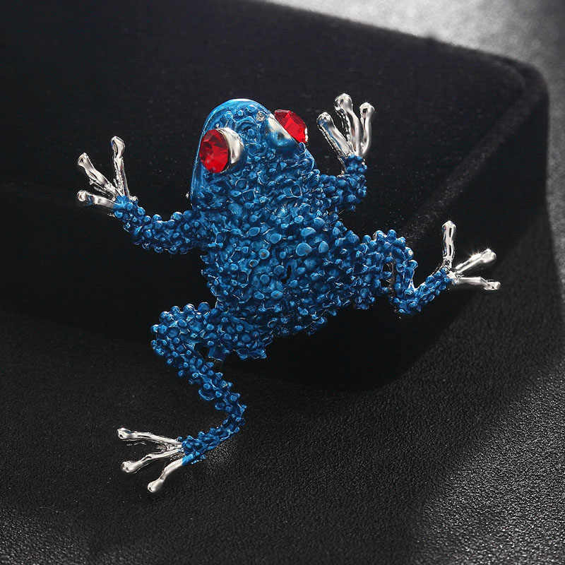 8788e4f2522a5 Detail Feedback Questions about Fashion Men s Brooches Jewelry Cute Blue  Enamel Frog Pin Brooch Women s Hijab Accessory Best Hats Bijoux Cheap Price  Scarf ...