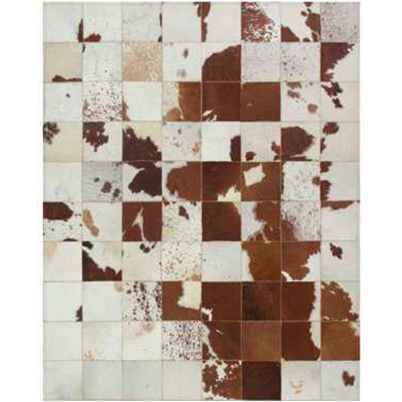 White/Ivory/Beige/Brown Natural Cow Hide Patchwork Sew Area Rug Original Cowhide Carpet For Living Room/Dining Room/Bedroom