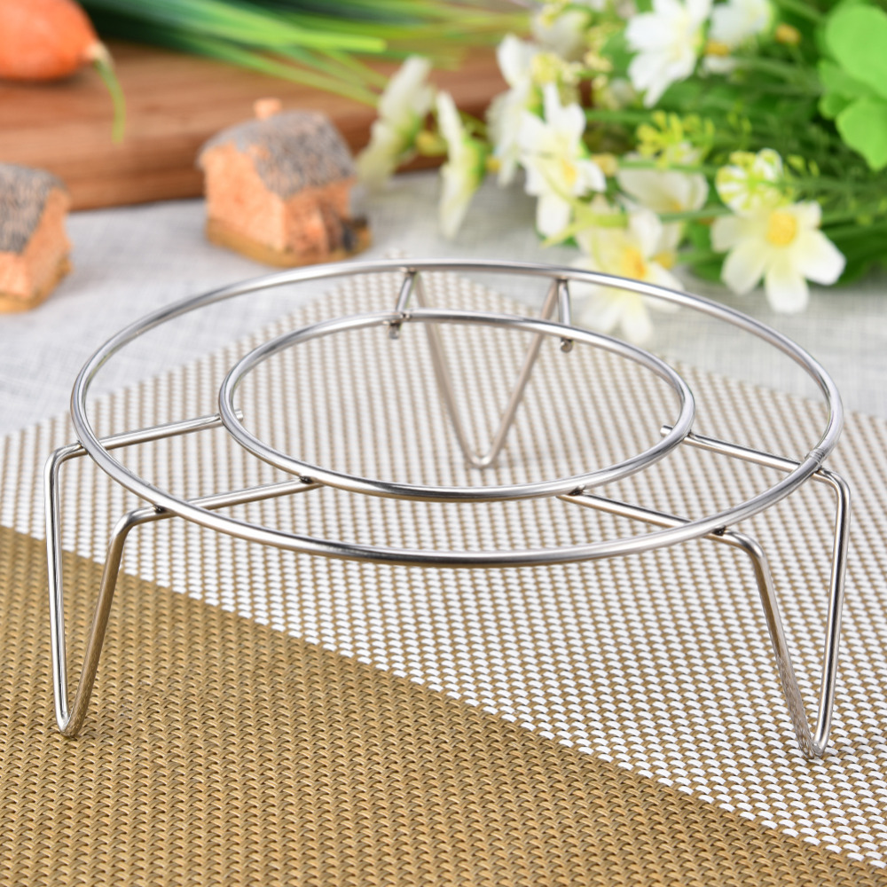 4 Size Stainless Steel Steamer Rack Multi-Purpose Steam Tray Insert Stock Pot Steaming Tray Stand Kitchen Cookware