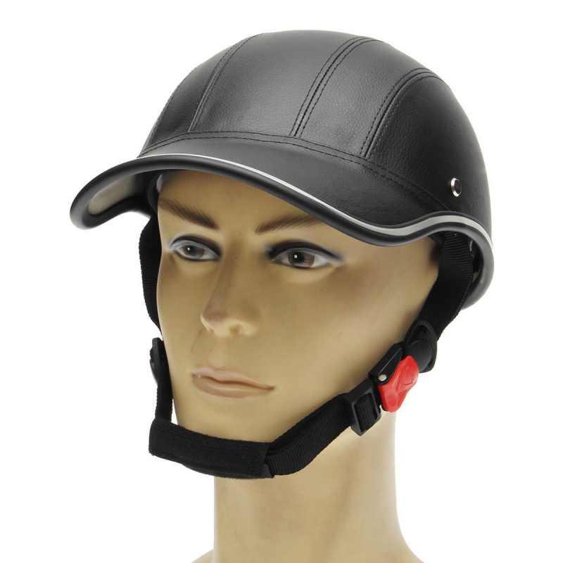 Mortorcycle Setengah Wajah Pelindung Helm Unisex Pria/Wanita Dewasa Sepeda Motor/Sepeda/Helm Sepeda Setengah Wajah Terbuka ABS
