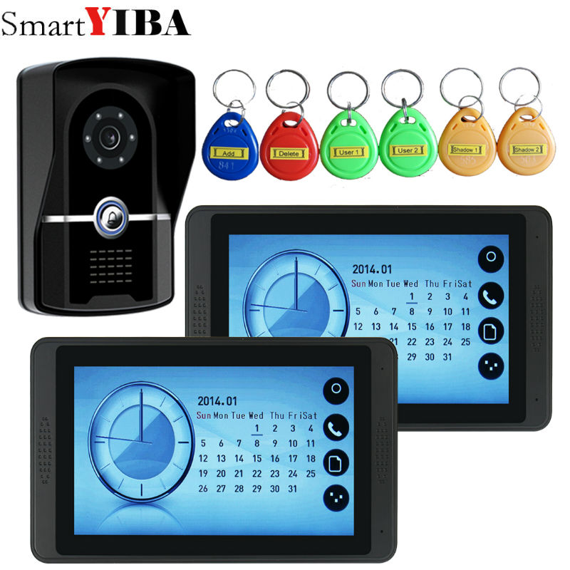SmartYIBA 7 Inch Home Video Door Phone With With Rfid camera Video Phone House Video Intercom Doorbell KitsSmartYIBA 7 Inch Home Video Door Phone With With Rfid camera Video Phone House Video Intercom Doorbell Kits
