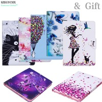 SZEGYCHX Case For iPad 9.7 inch 2017 A1822 A1823 Cartoon Pattern Wallet Flip PU Leather Tablet Shell + Soft Silicon Rear Cover