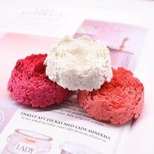 5 jardas 2cm flor de cerejeira laço fita tecido diy decoração do casamento rendas enfeites acessórios costura flor fita