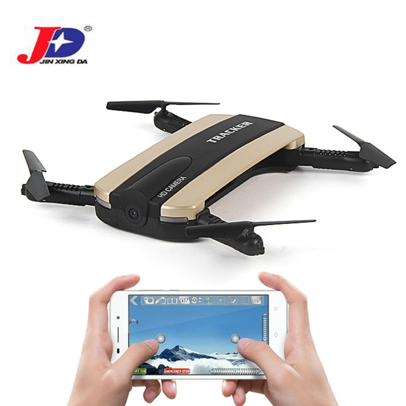 JXD 523 523W RC Drone Tracker Foldable Mini Dron With Wifi FPV HD Camera Altitude Hold Selfie Quadcopter Helicopter Outdoor Toys foldable selfie drone dron tracker phone control mini drones with wifi fpv hd camera pocket helicopter jxd 523 523w vs jjrc h37