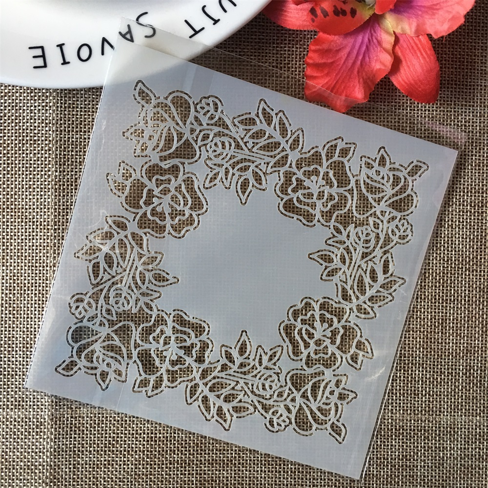 "5"" Leaves Garland DIY Layering Stencils Wall Painting Scrapbook Coloring Embossing Album Decorative Paper Card Template"