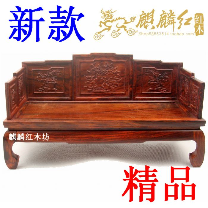Kylin rosewood crafts miniature furniture authentic rosewood arhat bed exquisite relief model especially good workmanship