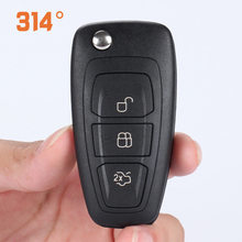 цена на 3 Button Black Car Remote Control Folding Key Shell Replacement Shell Suit For New Ford Focus / Mondeo Winning Car Key Shell