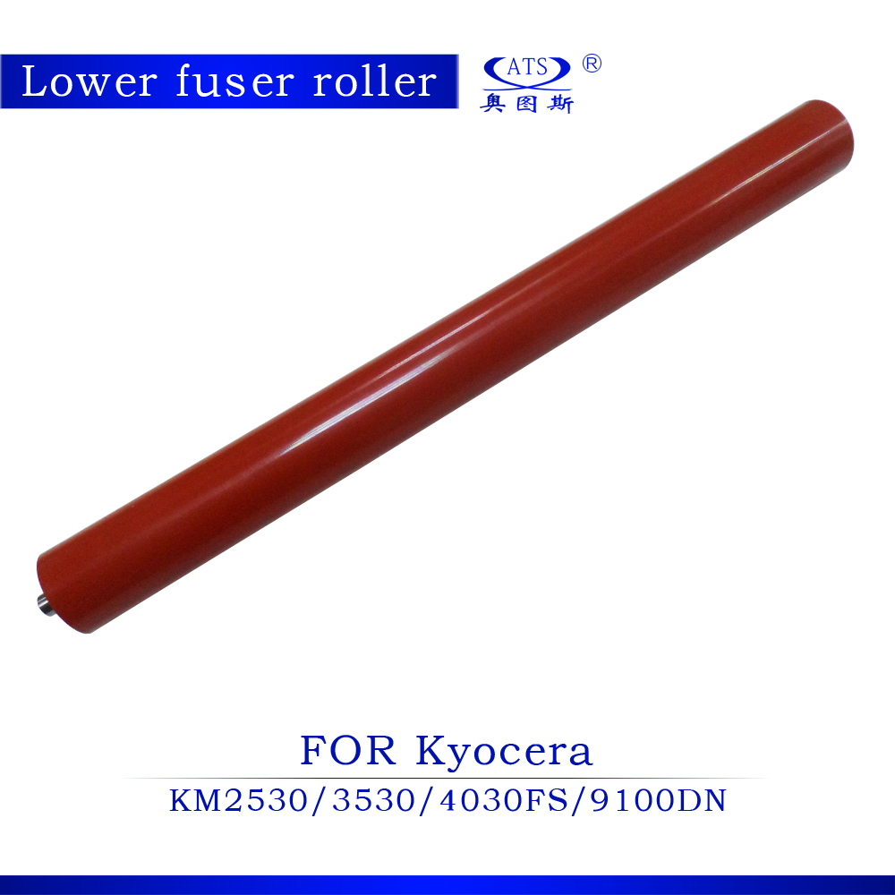 1pcs Photocopy Machine Lower Roller Fuser Roller For Kyocera KM2530 3530 FS4030 9100DN for kyocera km3030 km3031 km 3030 km 3031 aurora ad259 ad 259 low fuser roller for kyocera km 3030 3031 aurora ad 259 roller