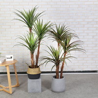 New large greenery plant 150cm 3 stems dragon blood wire orchid tree bonsai artificial tree artificial plant home decoration