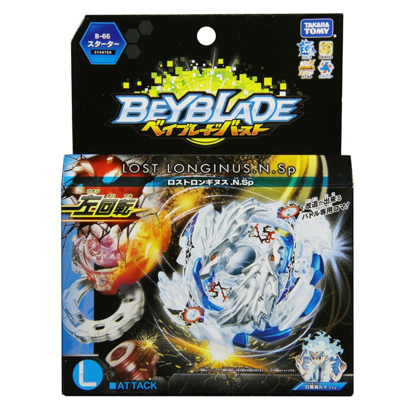 Takara Tomy Beyblade Toys Burst Evolution B-66 Metal Fusion Attack Pack GT Toys Spinning Top With Launcher Gyro