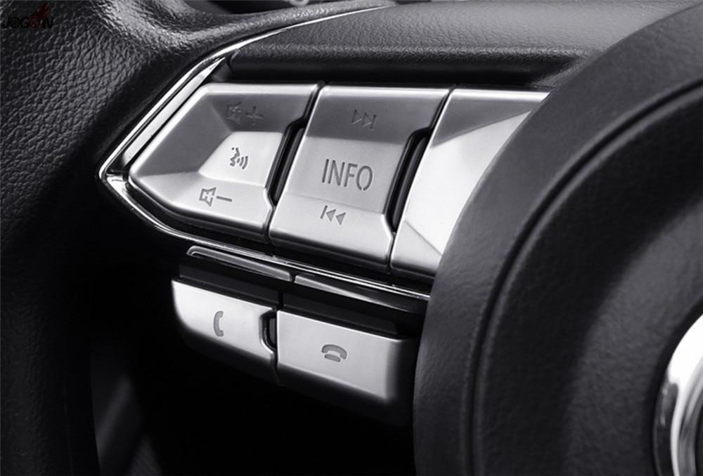 Interior Mouldings Interior Accessories 1pc Car Lhd Multimedia Knob Auto Hold Decorative Cover Trim Sticker For Mazda3 Axela 2016 2017 Control Panel Frame Accessories
