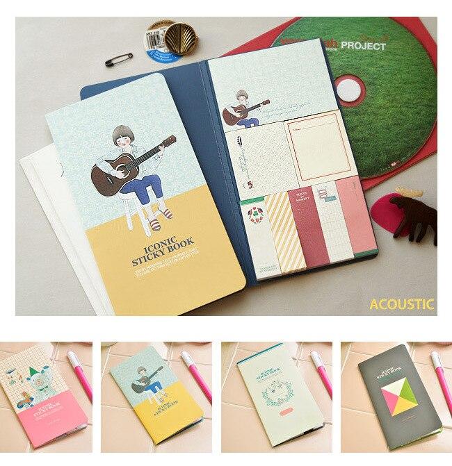 Memo Pads Cute Kawaii Cat Panda Memo Pad Sticky Paper Cartoon Rabbit Bear Writing Pads Adhesive Notes Korean Stationery Office Supplies