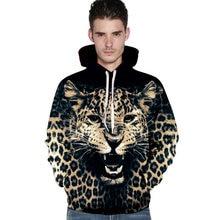 Cool men's hoodies 3D leopard cool sweatshirt men fashion harajuku brand hoodie men casual unisex pullovers High-quality S-3XL