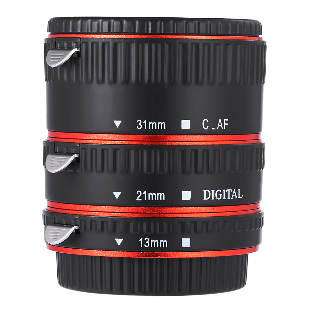 3 Macro Extension Tube Ring Lens Adapter For Nikon D800 D3100 D5000 Kabel Data Usb D40 D40x D50 D60 D70 D70s D80 D90 D100 D200 D300 D300s D600 D610 D700 D3000 D7000 Weihe Auto Focus Metal Canon Ef S