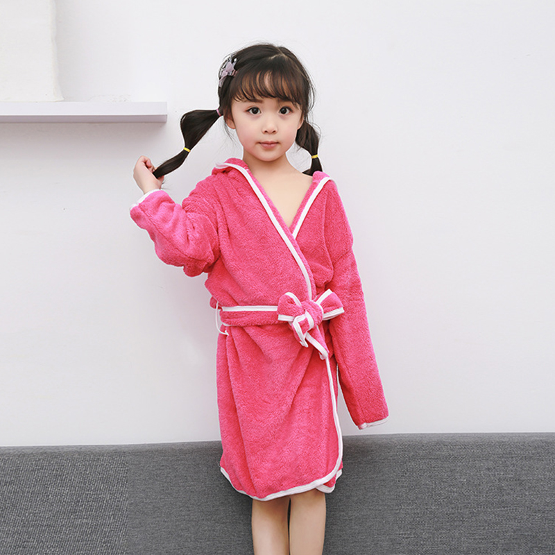 Family Bath Towel For Mom and Girls Boys Warm Bathrobe Super Soft Flannel  Coral Fleece Long Bath Robe Kimono Bathing Gown Robes-in Bath Towels from  Home ... 0548f8fd3