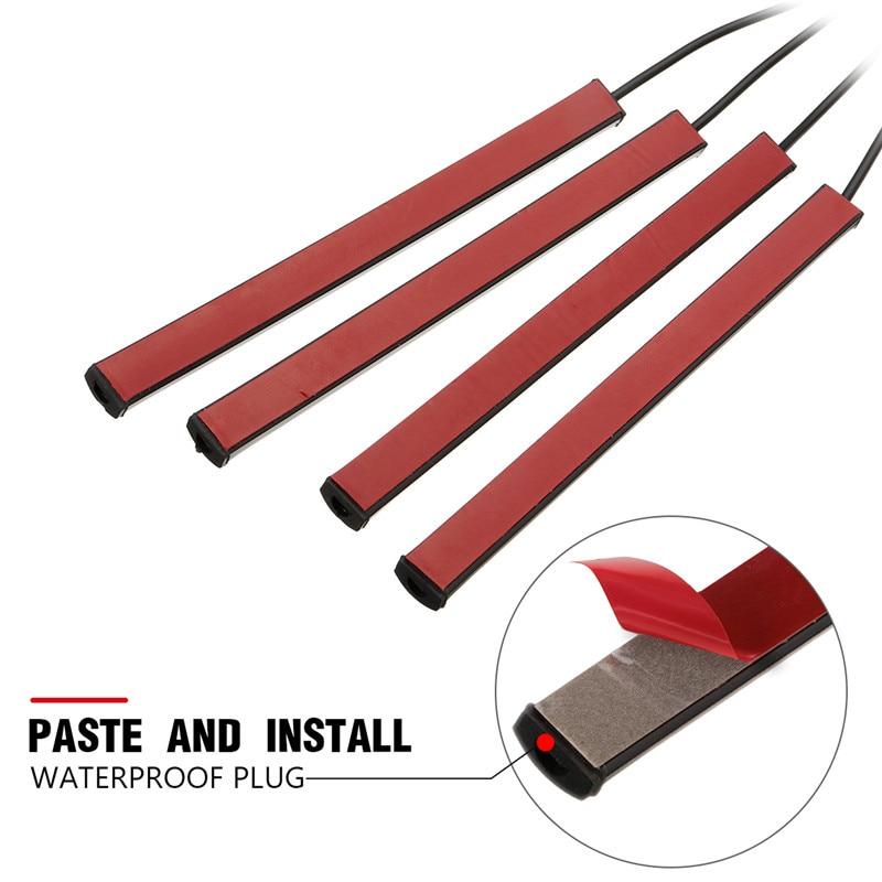Image 5 - 1Set USB Interior Strip Lamp  9 LED App Control Light Rmote Control floor lights car  Decorative atmosphere lampSignal Lamp   -