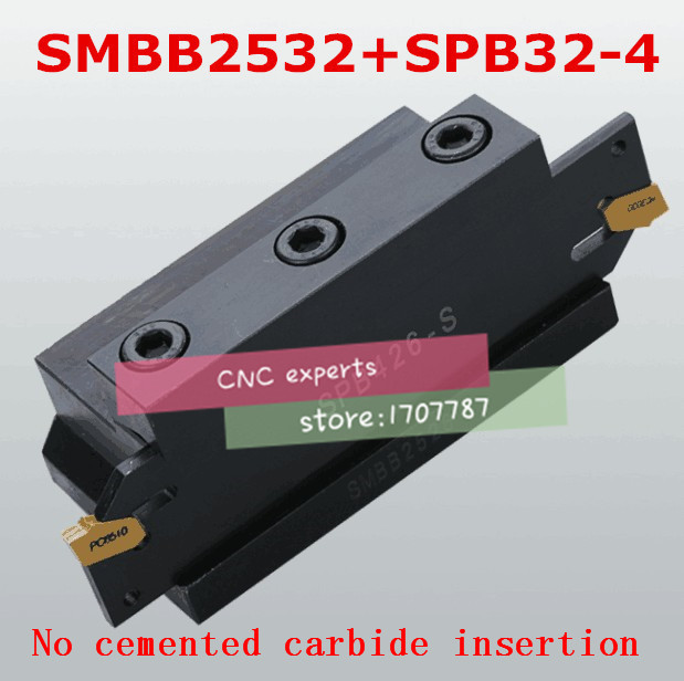 1PCS SPB32 4 NC cutter bar and 1PCS SMBB2532 CNC turret set Lathe Machine cutting Tool