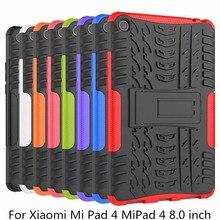 Чехол-подставка для Xiaomi mi Pad 4 mi Pad 4 8,0 «чехол для планшета TPU + сверхмощный Чехол-Броня прочный пластиковый Гибридный сверхмощный