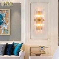 Классический хрустальные стены света 110 В 220 В 12 В 24 В бра очки декоративные детали Винтаж стены кристалл лампа