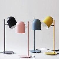 מודרני יצוק ברזל creative צבע שולחן מנורת E27 LED אישיות לקריאה מיטת בית חדר שינה מחקר ספר חנות משרד
