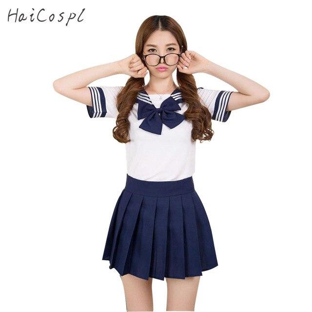 5d09ee495ffe5 عالية طالب موحدة مدرسة موحدة تأثيري حلي اليابانية فتاة قصيرة الأكمام قميص  أنيمي kawaii تنورة أنثى