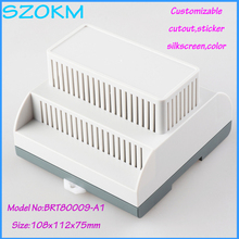 1 piece free shipping plastic project box for electronic din rail enclosure plc industrial box 108x112x75 mm
