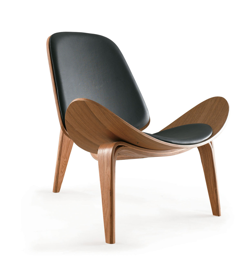 Designer Chair: Shell Chair Aircraft Triangular Shell Chair Sofa Chair