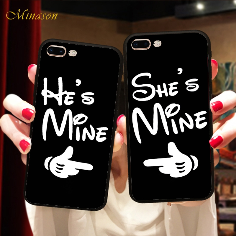 Minason Lover Gesture Quotes Couple Case Soft BFF Phone Cover For <font><b>Samsung</b></font> Galaxy S7 edge <font><b>S8</b></font> S9 <font><b>Capinha</b></font> <font><b>de</b></font> <font><b>Celular</b></font> image